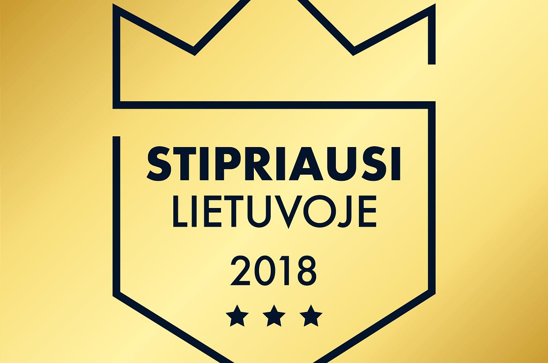 """UAB """"CLIMPRO"""" suteiktas sertifikatas """"Stipriausi Lietuvoje 2018"""""""