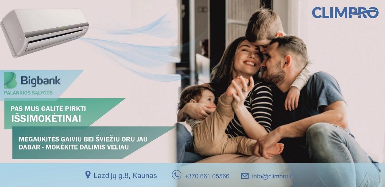Climpro šviežio oro reklama